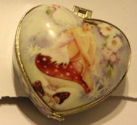 Trinket Box- Heart Shaped ,Flower fairy
